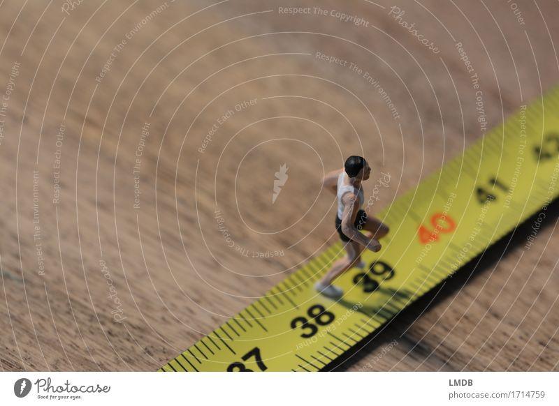 ...sportlich 40 erreichen... Mensch Mann alt Erwachsene Senior Bewegung Sport Gesundheit maskulin laufen Fitness rennen Sport-Training anstrengen Rennbahn