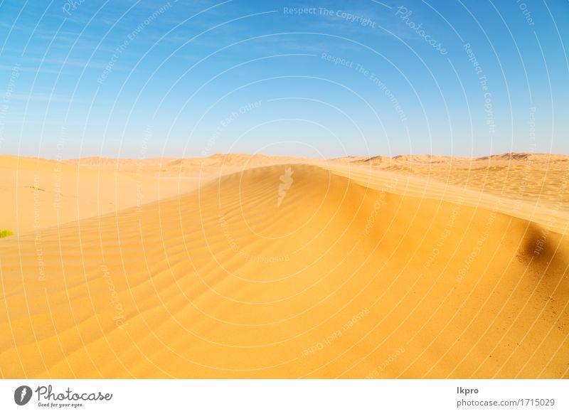 R Sanddüne in Oman alte Wüste Rub al Khali schön Ferien & Urlaub & Reisen Tourismus Abenteuer Safari Sommer Sonne Natur Landschaft Himmel Horizont Park Hügel