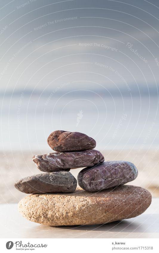 Balance Ferien & Urlaub & Reisen Sommer Meer Erholung ruhig Strand Gefühle natürlich Stein Zufriedenheit Wellness Frieden Gelassenheit Wohlgefühl harmonisch