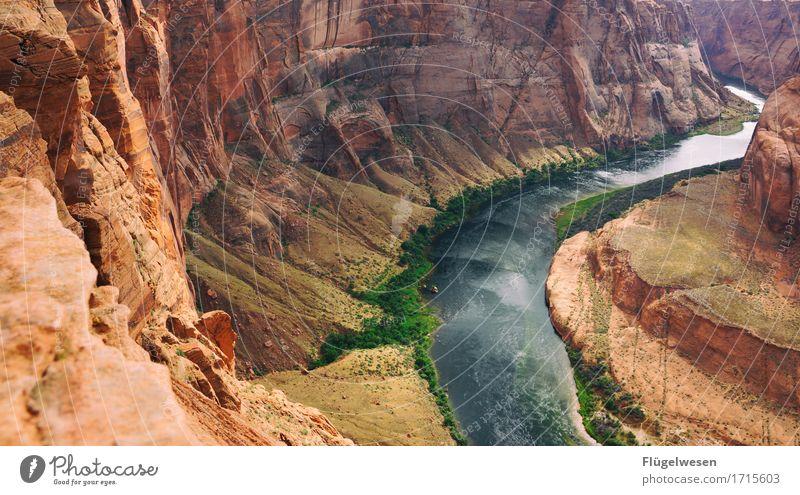 Horseshoe Bend (Arizona) [12] Natur schön Wasser Landschaft Berge u. Gebirge Küste Ausflug Aussicht genießen USA Fluss Sehenswürdigkeit Amerika Nationalpark fließen Pass