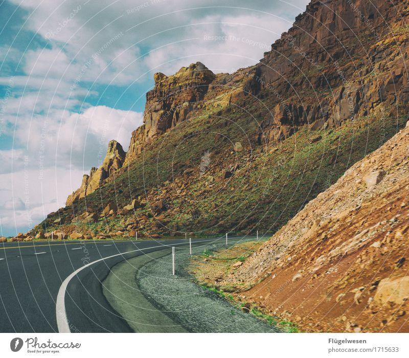 Beautiful Amerika (b) Himmel Pflanze Landschaft Wolken Tier Ferne Berge u. Gebirge Straße PKW Sträucher Aussicht USA Wüste Autobahn Kurve