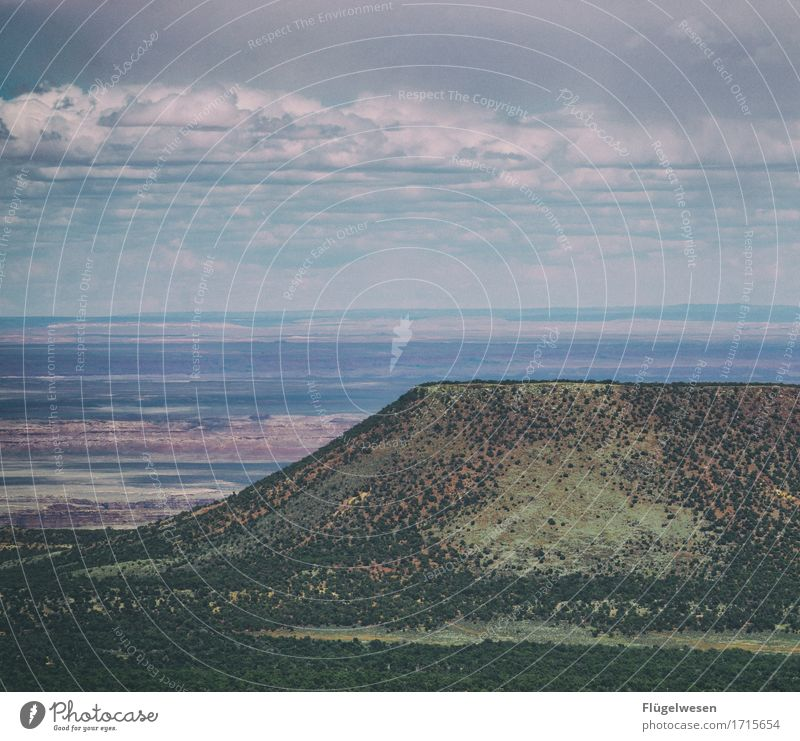 Beautiful Amerika (d) Himmel Wolken Tag Schatten Berge u. Gebirge Grand Canyon USA Landschaft Pflanze Tier Aussicht Ferne Menschenleer Sträucher Vulkankrater