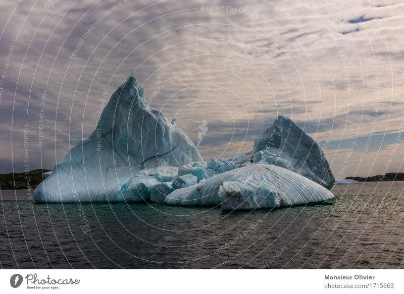 Eisberg Natur blau Landschaft kalt Klima Frost Kanada Neufundland