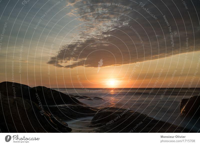 Urlaubsstimmung Umwelt Natur Landschaft Himmel Wolken Sonne Fernweh Kanada Küste Sonnenuntergang Warmes Licht Warme Farbe Wasser Romantik Reisefotografie