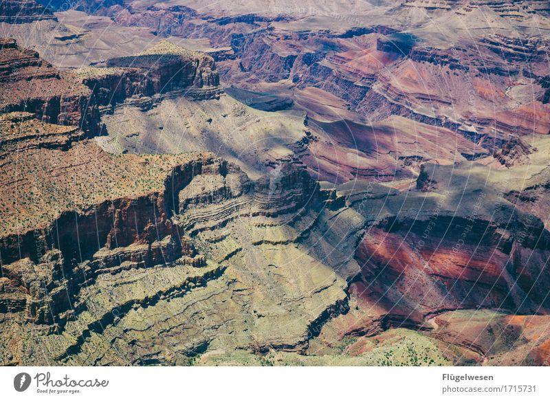 Beautiful Amerika (s) Himmel Wolken Tag Schatten Berge u. Gebirge Grand Canyon USA Landschaft Pflanze Tier Aussicht Ferne Menschenleer Sträucher Vulkankrater