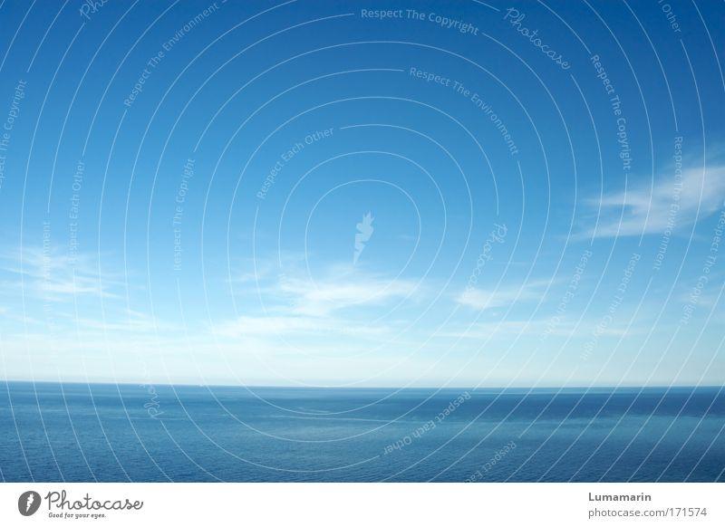 blau Himmel Natur Wasser blau schön Meer Sommer Ferien & Urlaub & Reisen ruhig Ferne Umwelt Luft Horizont frisch groß Hoffnung