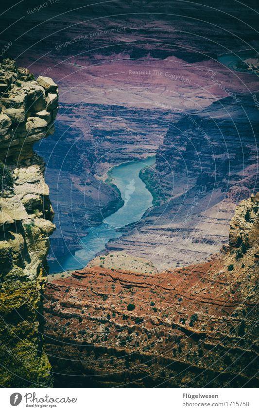 Beautiful Amerika (i) Schatten Berge u. Gebirge Grand Canyon USA Landschaft Pflanze Tier Aussicht Ferne Menschenleer Sträucher Vulkankrater Wüste Steppe