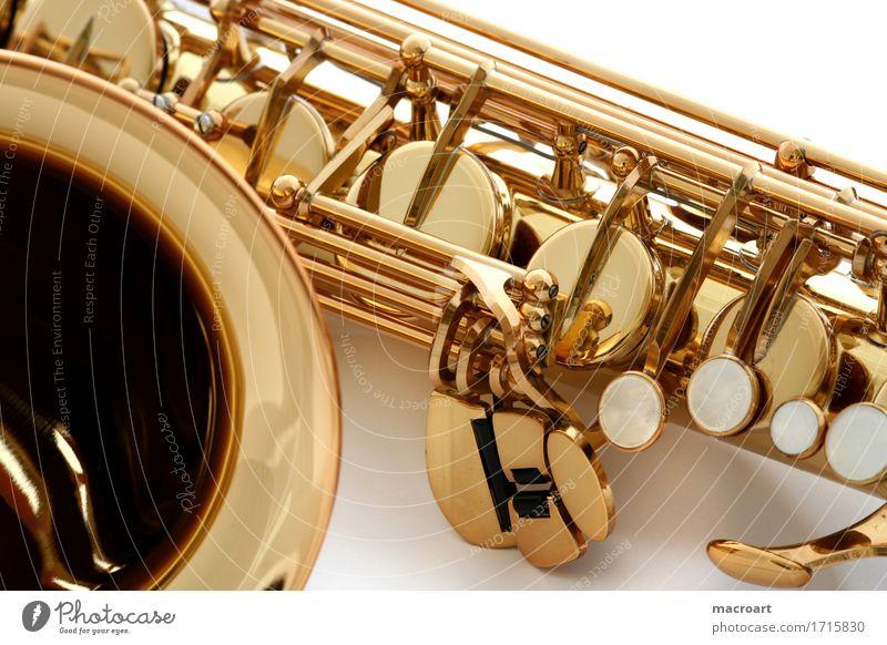 Saxophon Blasinstrumente blättchen Klappe Holzblasinstrumente Musik Musikinstrument Detailaufnahme Nahaufnahme Perlmutt