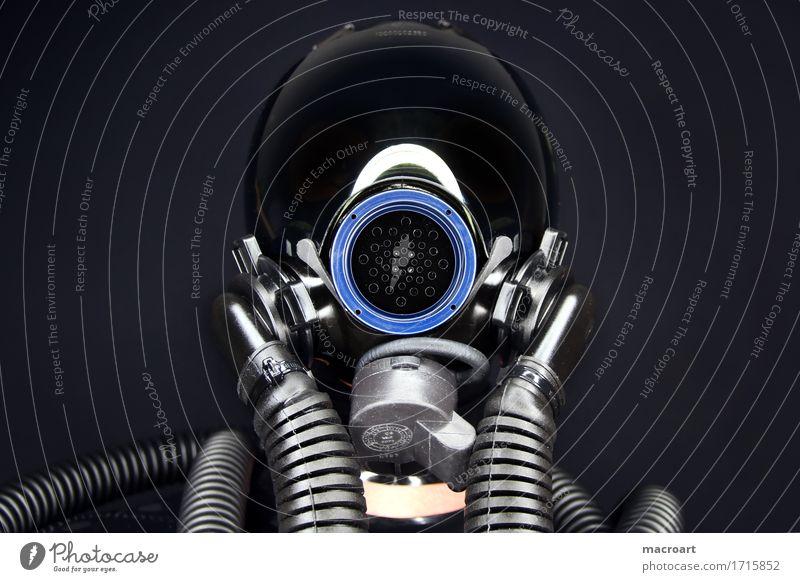 Maske fetisch fetischismus maske schlauch schläuche blau licht blende visier luftwaffe