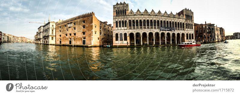 Palastpanorama in Venedig Ferien & Urlaub & Reisen Tourismus Ausflug Abenteuer Sightseeing Städtereise Kreuzfahrt Sommerurlaub Hauptstadt Hafenstadt Haus