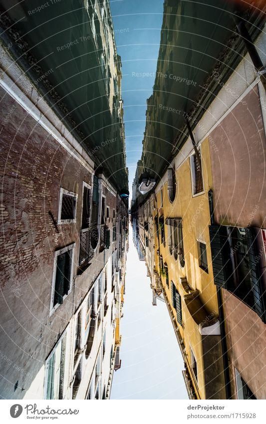 Kanalhimmel in Venedig Ferien & Urlaub & Reisen Haus Ferne Architektur Wand Gebäude Mauer Freiheit Fassade Tourismus Verkehr Ausflug ästhetisch authentisch