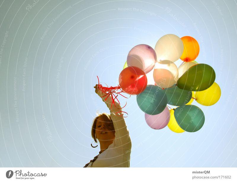 Happy Birthday. Farbfoto mehrfarbig Außenaufnahme Experiment Textfreiraum links Textfreiraum oben Hintergrund neutral Tag Licht Sonnenlicht Starke Tiefenschärfe
