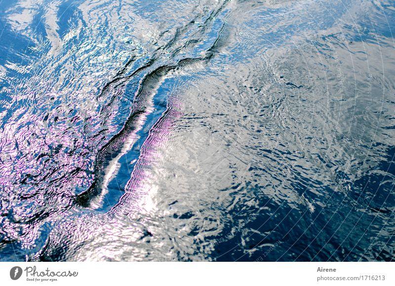 well ness IV Natur Urelemente Wasser Sommer Schönes Wetter Wellen Schwimmen & Baden Flüssigkeit frisch Unendlichkeit maritim nass blau rosa weiß Bewegung Graben