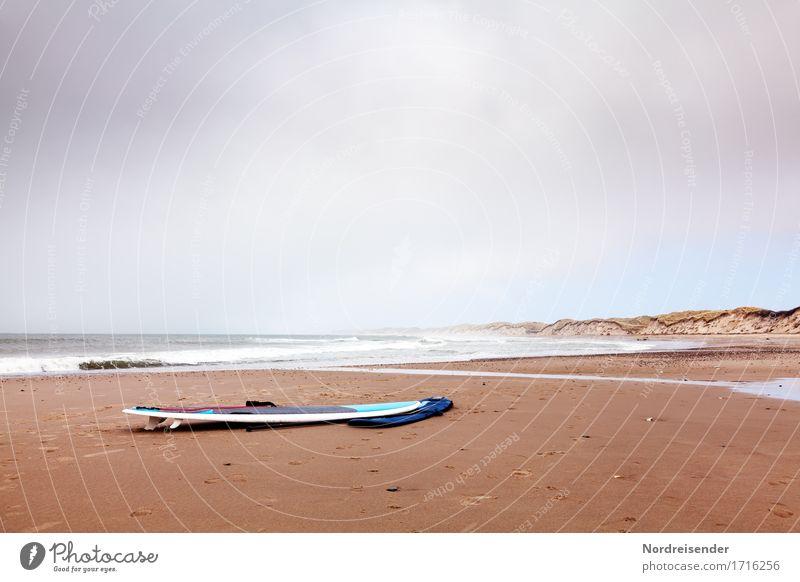Nordsee Natur Ferien & Urlaub & Reisen Sommer Wasser Landschaft Meer Wolken Ferne Strand Sport Freiheit Sand Luft Freizeit & Hobby Wellen Wind