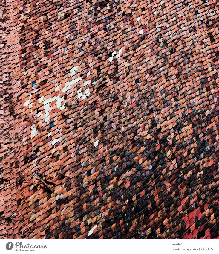 Oberstübchen Haus Bauwerk Dach Dachziegel oben viele Farbfoto mehrfarbig abstrakt Muster Strukturen & Formen Menschenleer Textfreiraum links Textfreiraum rechts