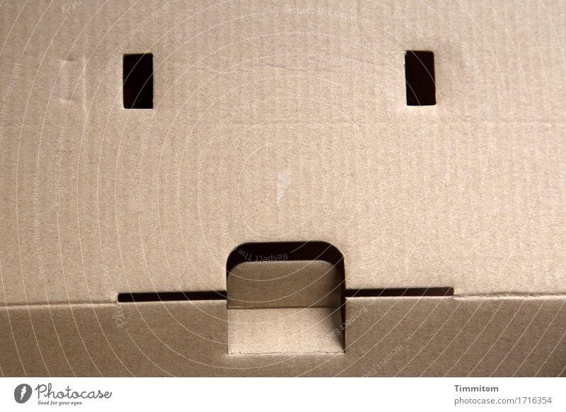 überwacht | ...aber sicher. Gesicht Auge Linie ästhetisch einfach Mund beobachten Verpackung Karton Schachtel dezent Türspion