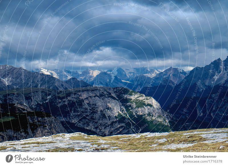 Sextener Dolomiten 1 Himmel Natur Ferien & Urlaub & Reisen Pflanze blau Sommer Baum Landschaft Wolken dunkel Berge u. Gebirge Umwelt natürlich Gras Felsen