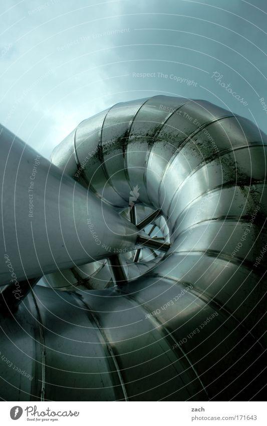 Alternative Verhütungsmethoden-die Spirale Freude Wolken dunkel kalt Spielen Architektur Bewegung Metall Kindheit glänzend hoch Design modern bedrohlich rund