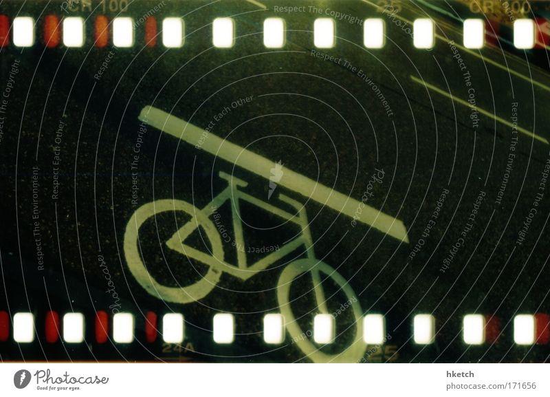 I Want To Ride My Bicycle schwarz Straße Wege & Pfade Fahrrad fahren Personenverkehr Verkehrsschild Verkehrszeichen Holga Ordnungsliebe