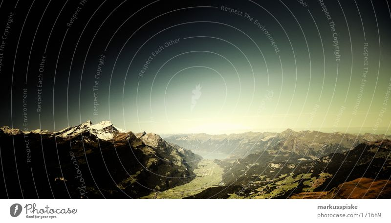 blick vom hasliberg Natur Himmel Sonne Sommer Ferien & Urlaub & Reisen Ferne Berge u. Gebirge Freiheit Landschaft groß Horizont Felsen Ausflug Tourismus Schweiz