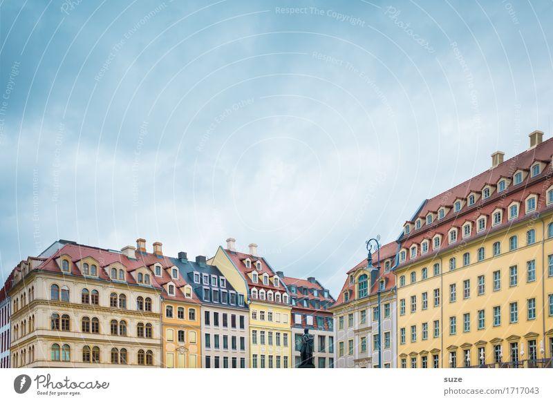 Neues altes Dresden Himmel Ferien & Urlaub & Reisen Stadt Haus Fenster Architektur Stil Gebäude Tourismus Fassade ästhetisch authentisch Kultur Platz