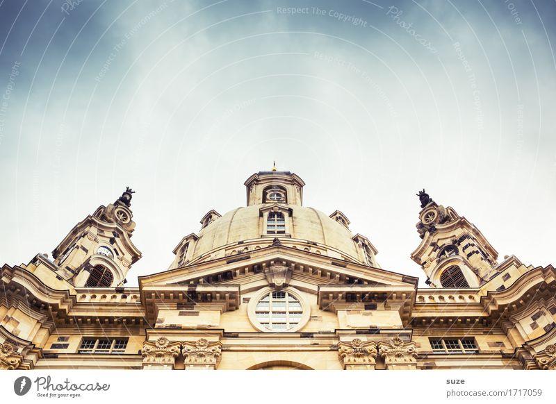 Alte Dame Himmel Stadt Himmel (Jenseits) Religion & Glaube Kirche Bauwerk Dresden Barock Maria Frauenkirche