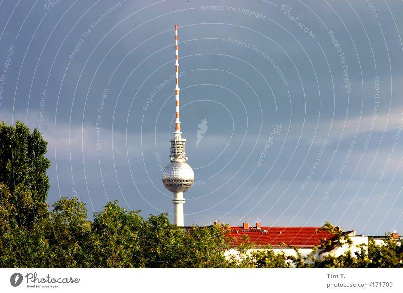 Berliner Sonne Sommer Haus Ferne Park Gebäude Architektur Wohnung Hochhaus Horizont Turm Bauwerk Wahrzeichen Sightseeing Sehenswürdigkeit Städtereise