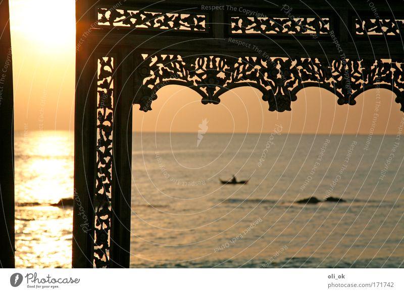 Weitblick Sonne Meer Strand Ferien & Urlaub & Reisen Ferne Erholung Freiheit Holz Landschaft Stimmung Küste ästhetisch Lebensfreude exotisch