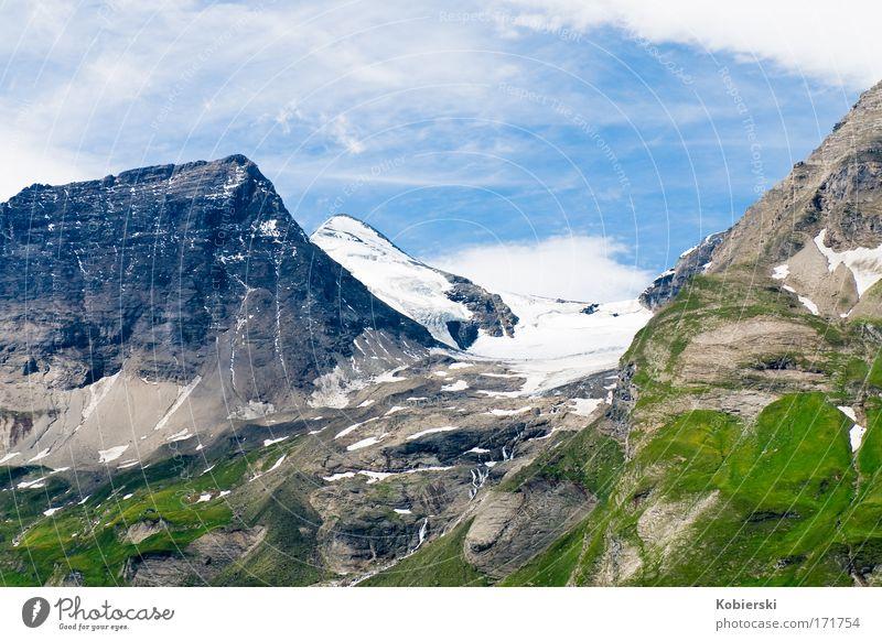 Wiesbachhorn Natur Ferien & Urlaub & Reisen Sonne Sommer Wolken Umwelt Landschaft Berge u. Gebirge Bewegung Felsen groß Tourismus Neugier Alpen Gipfel Mut