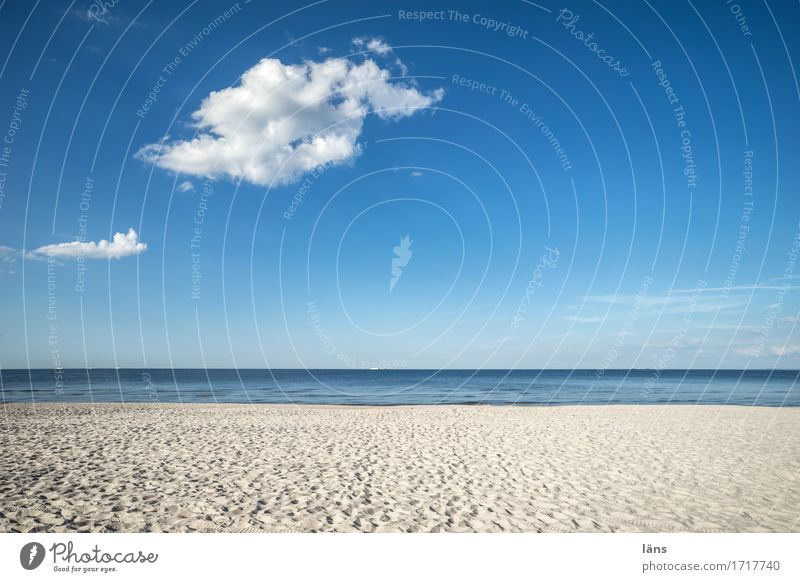 und jedem Anfang... Himmel Ferien & Urlaub & Reisen Sommer Wasser Sonne Landschaft Meer Erholung Wolken ruhig Ferne Strand Wege & Pfade Freiheit