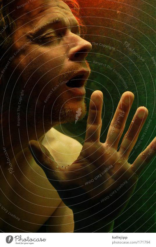 waterloo Mensch Mann Wasser Hand Meer Einsamkeit Gesicht Erwachsene Tod Leben See Schwimmen & Baden Mund Nase Finger Wellness