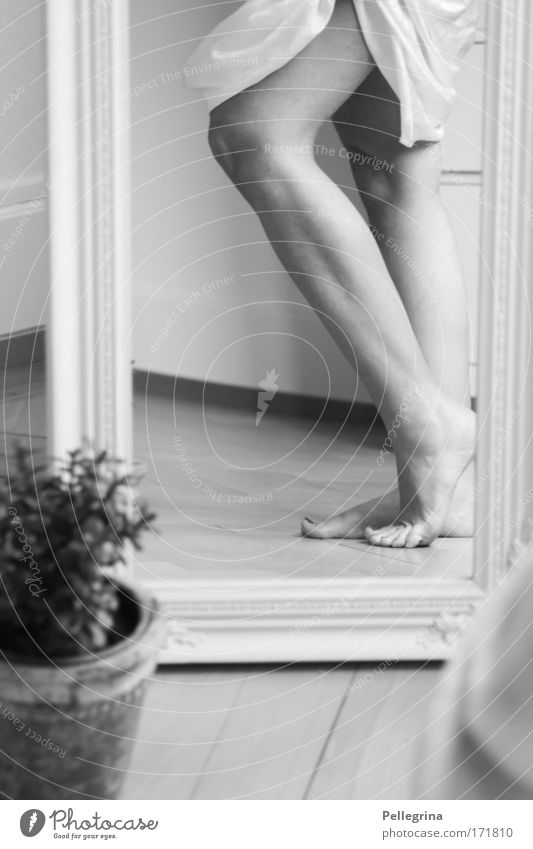 Wie aus Alabaster Mensch Jugendliche feminin Fuß Beine Stimmung Frau Junge Frau