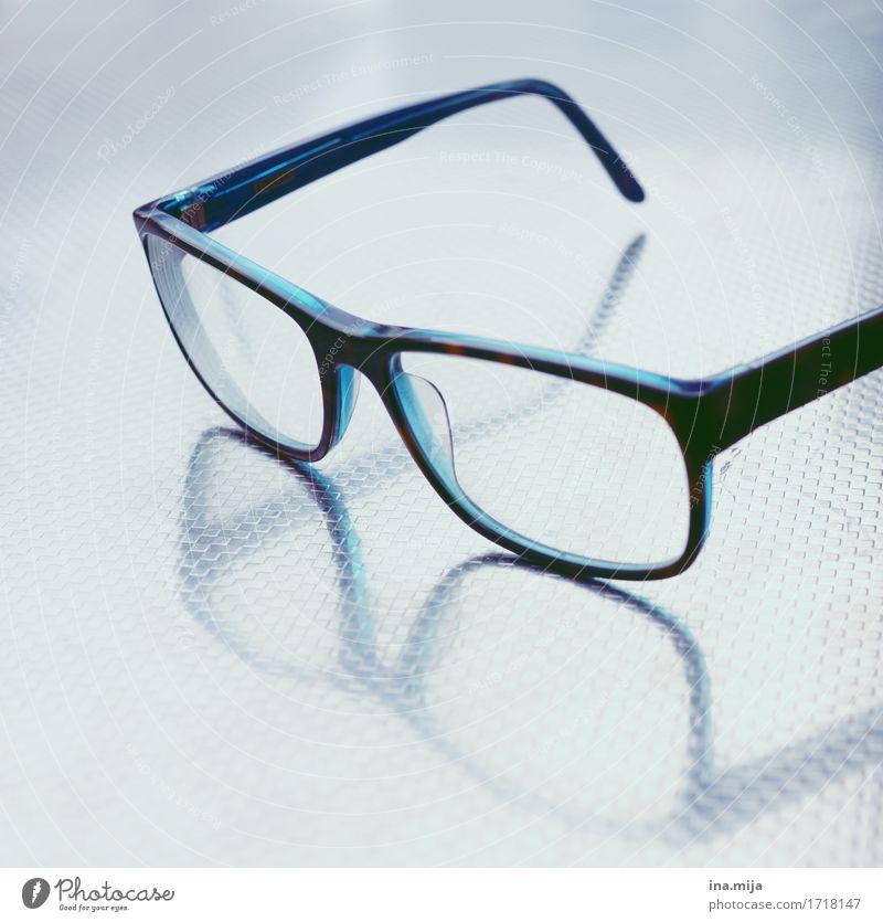 Brille Gesundheit lernen Lehrer Arbeit & Erwerbstätigkeit Büroarbeit Wirtschaft Business Accessoire Glas Metall eckig elegant Erfolg Gesundheitswesen