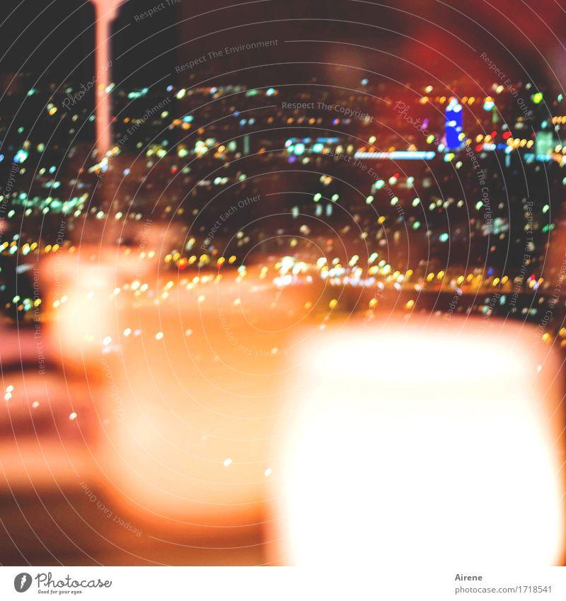 München leuchtet Städtereise Nachtleben Restaurant Bar Cocktailbar ausgehen Feste & Feiern Stadt Hauptstadt Olympiaturm Lampenschirm Lampenlicht Nachtlicht