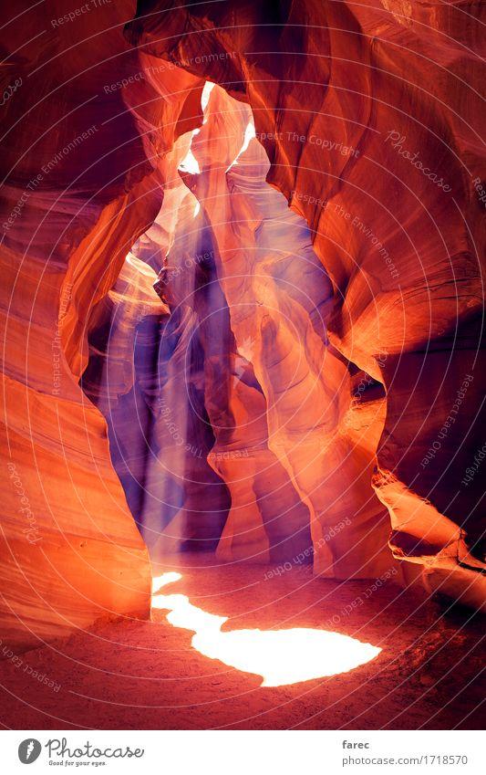 Antelope Canyon Navajo Tribal Park Natur Landschaft Sommer Schönes Wetter Wärme Dürre Wüste Stein Sand entdecken Erholung genießen wandern authentisch