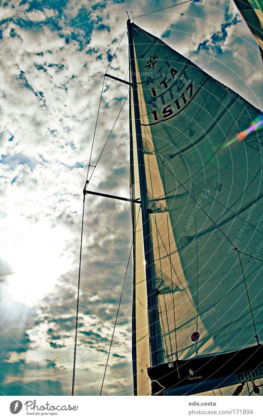Natur Wasser Himmel Sonne Ferien & Urlaub & Reisen Wolken Landschaft Umwelt Ausflug Tourismus Fahne