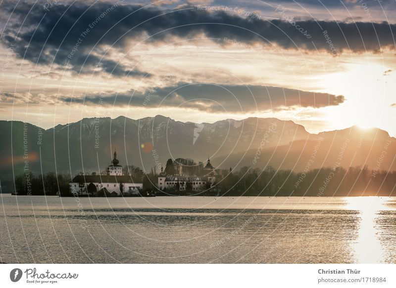Gmunden Wellness harmonisch Wohlgefühl Zufriedenheit Sinnesorgane Erholung ruhig Meditation Angeln Ferien & Urlaub & Reisen Tourismus Ausflug Freiheit Winter