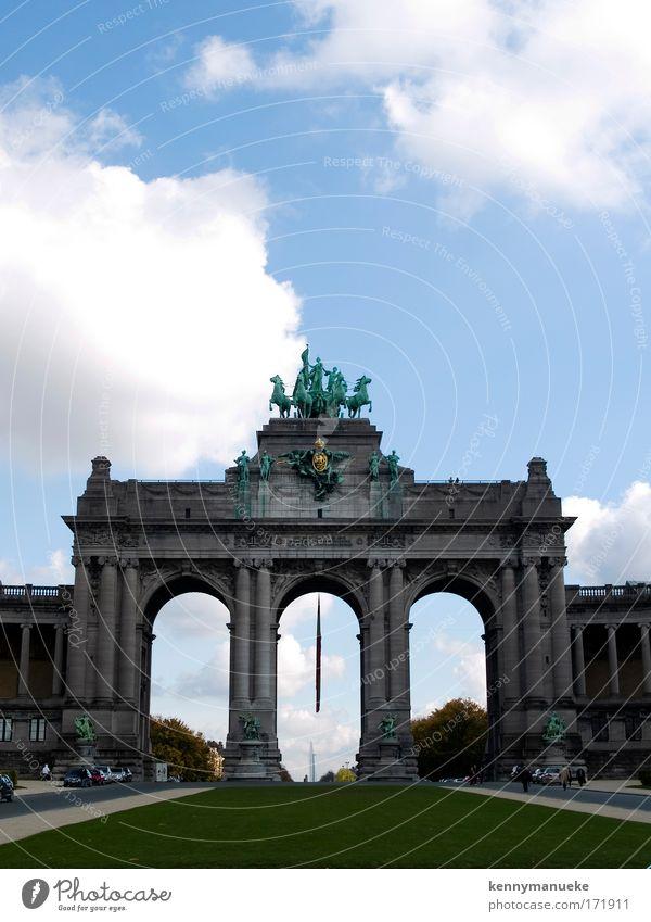 Jubelpark Farbfoto Ferien & Urlaub & Reisen Tourismus Sightseeing Städtereise Museum Skulptur Brüssel Belgien Europa Hauptstadt Park Tor Tag