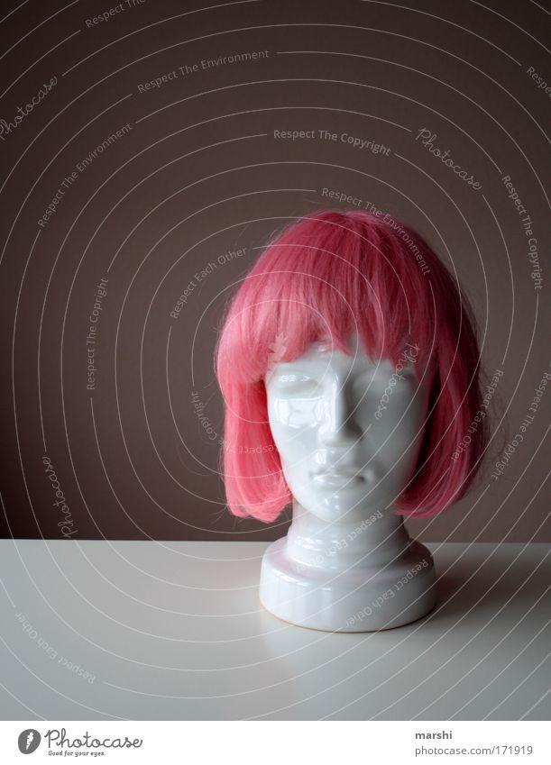 Ersatzfreundin weiß ruhig Einsamkeit feminin Gefühle Haare & Frisuren Kopf Zusammensein rosa maskulin Lifestyle Dekoration & Verzierung Karneval außergewöhnlich Theaterschauspiel Gesichtsausdruck