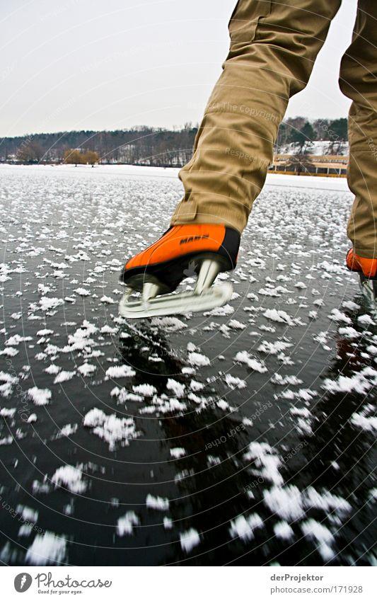 DIE EISSAISON HAT BEGONNEN Winter Sport Freizeit & Hobby laufen Ausflug Wintersport Schlittschuhlaufen Badeort Wannsee