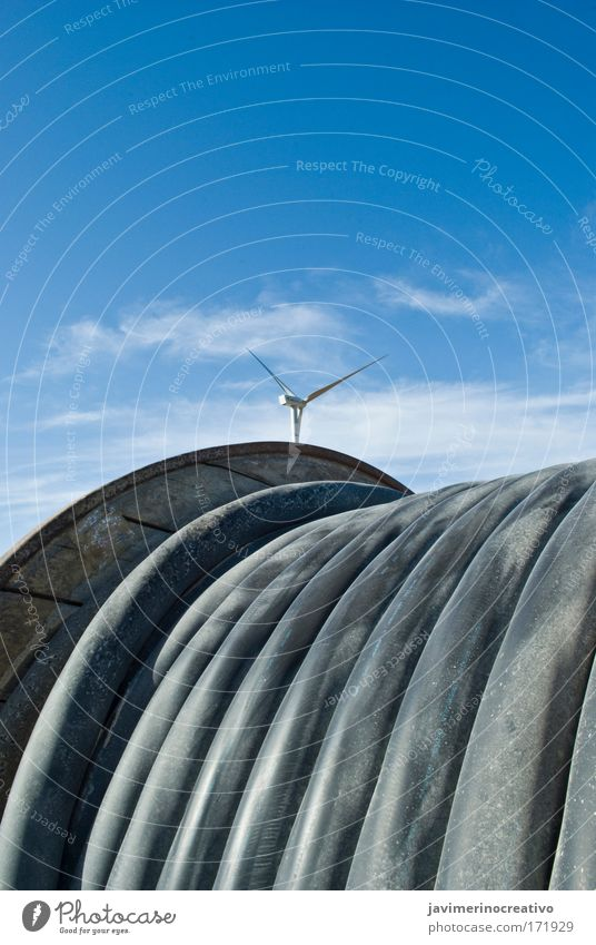 Natur Himmel Sonne blau Ferien & Urlaub & Reisen Landschaft Luft Umwelt Technik & Technologie Klima Windkraftanlage Schönes Wetter Klimawandel Inspiration