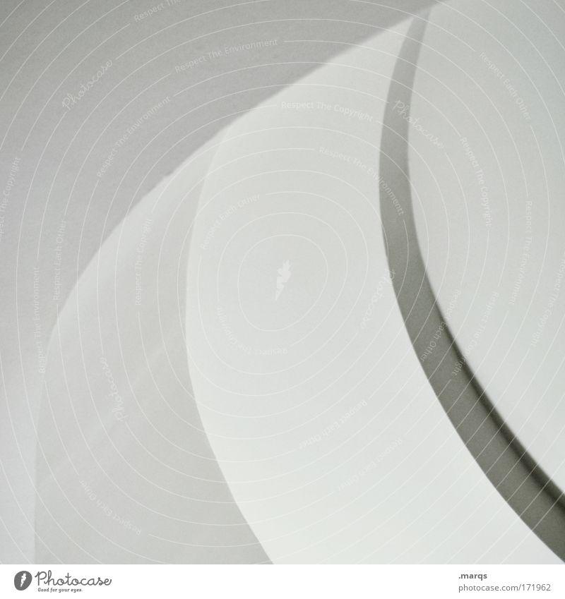 Bent Schwarzweißfoto Experiment abstrakt Muster Licht Schatten elegant Stil Design Gebäude Architektur Beton Linie ästhetisch außergewöhnlich einfach