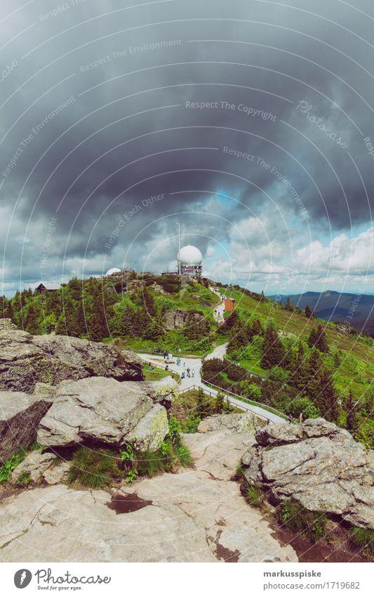 grosser arber bayerischer wald Ferien & Urlaub & Reisen Sommer Sonne Landschaft Erholung Freude Ferne Berge u. Gebirge Glück Freiheit Felsen Tourismus