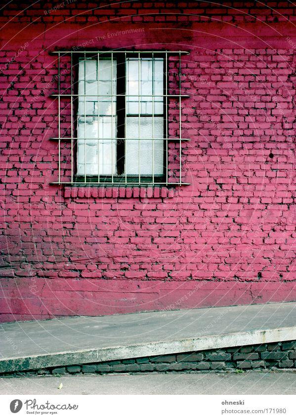 Frauenknast alt Stadt Haus Wand Fenster Mauer Gebäude dreckig Architektur rosa Fassade retro gruselig Backstein trashig Bauwerk