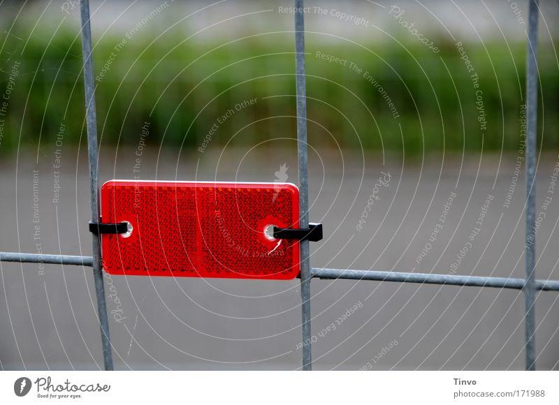 Sicherheitsreflektor rot Kunststoff Gitter Reflektor Katzenauge Metallzaun