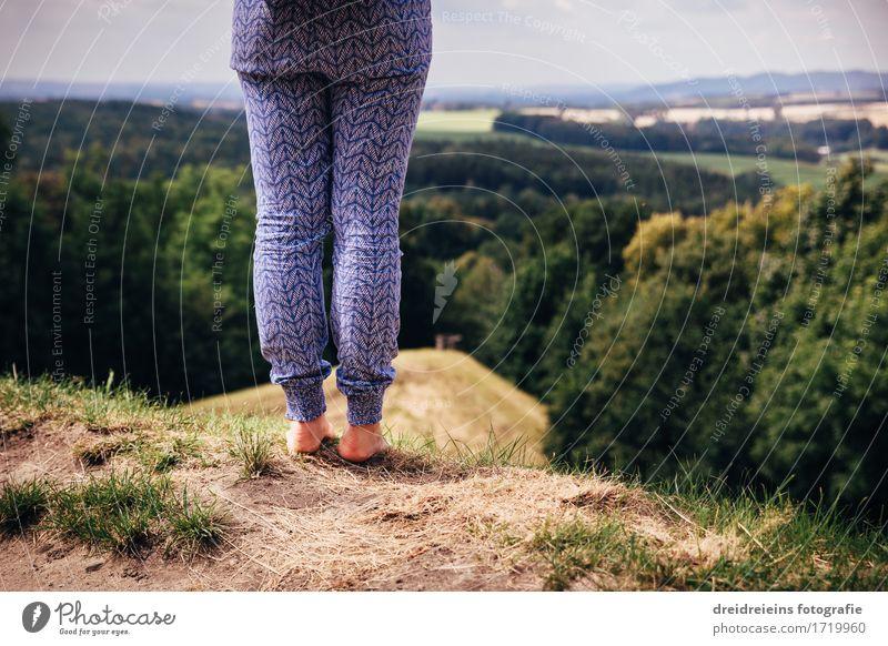 Weitblick Leben Wohlgefühl Sinnesorgane ruhig Meditation Ferien & Urlaub & Reisen Abenteuer Ferne Freiheit Berge u. Gebirge wandern Mensch Natur Landschaft