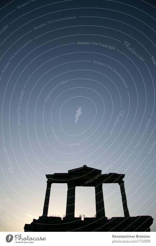a piece of Athens Himmel alt blau schön Ferien & Urlaub & Reisen Sommer schwarz Architektur Tourismus Europa Bildung Kultur historisch Vergangenheit entdecken Säule