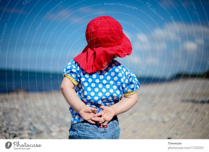 Fernweh Glück Freizeit & Hobby Ferien & Urlaub & Reisen Ferne Freiheit Sommerurlaub Sonne Strand Meer Kleinkind 1 Mensch 1-3 Jahre Ostsee beobachten träumen
