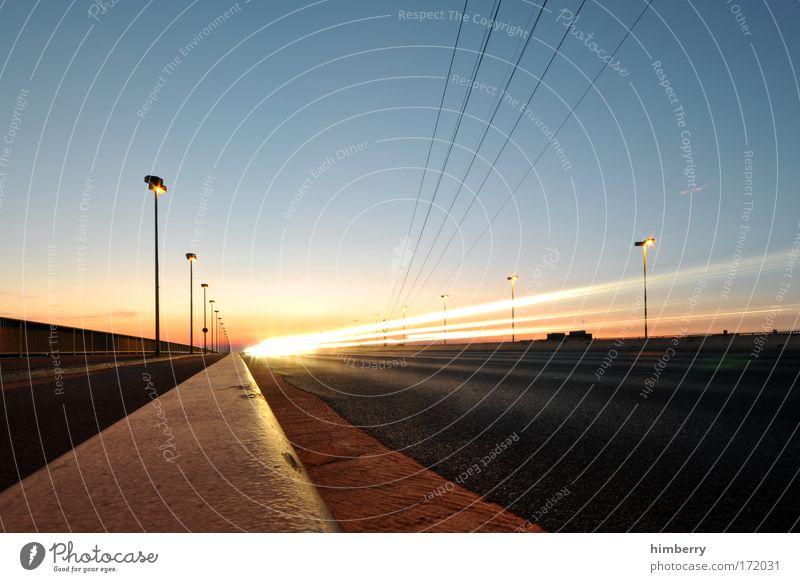 sundowner Straße Bewegung Wege & Pfade Straßenverkehr Hintergrundbild Verkehr Geschwindigkeit Brücke Energiewirtschaft Sonnenuntergang Güterverkehr & Logistik