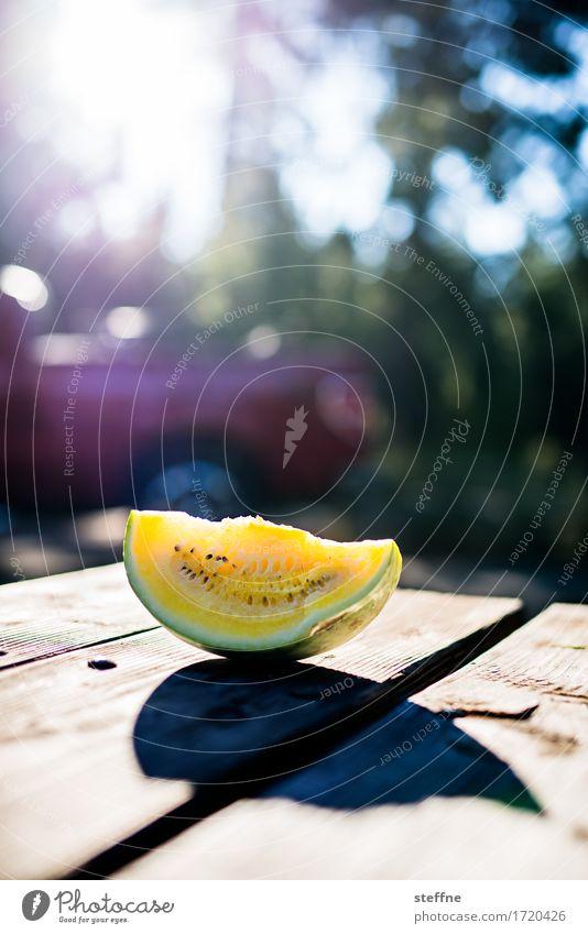 Foodfoto V Gesunde Ernährung Speise Essen Foodfotografie Gesundheit ungesund Lebensmittel Frucht Melonen Vitamin frisch gelb Gegenlicht Natur Picknick